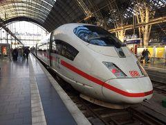 Frankfurt中央駅からKobrenzまでの約1時間半、今回最後のICE乗車です。 もちろんライン川の方を経由する列車で、川の方の席(進行方向向かって右側)を確保。 結局今回は7回もICEに乗ることが出来ました(^0^) ※十二分に鉄分補給出来ました(笑)
