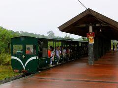 道なりに進むと見えて来るのがトロッコ列車 ここは中央駅 ここに来るまでにトイレ、ATM、お土産ショップなどは沢山あるから大丈夫 うちらもここに着いてからペソを引き出したよ アルゼンチンのイグアス国立公園は入場料はペソでしか払えないので、空港に着いたときは必ず260ペソ相当のお金は持っておくこと!!