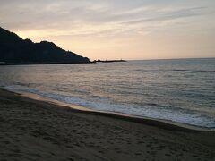 浜坂海岸の夕暮れです。