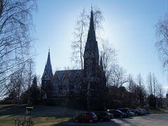 ヨエンスー教会(Joensuun kirkko)とパピン通り(Papinkatu)  http://www.joensuunevl.fi/etusivu/