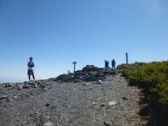 蝶ヶ岳の山頂(2677m)