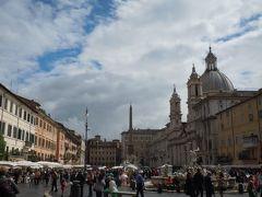 雨あがったナヴォナ広場。