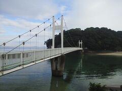 観月橋と湯の児島公園