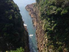 断崖絶壁の絶景。見事な柱状節理です。