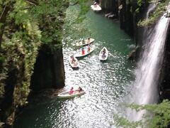 真名井の滝。ボートで近づけるようです。