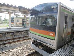 8:49 高麗川駅に着きました。(八王子駅から49分)
