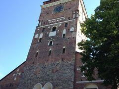 そんなに遠くないはずだけど、かなり疲れてトゥルク大聖堂到着!入り口に入るには急な階段を上るしかない。