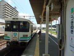 終点の槻木駅に到着、東北本線に乗り換えます。ちなみに乗り換えの改札はありませんでした。