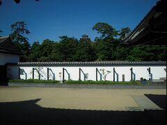 松江歴史館からの松江城。