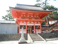 これもパーフェクトチケットを使って路線バスで移動していきました 日御碕神社  朱塗りの社殿