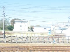 東能代駅の転車台跡