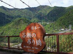 谷瀬の吊り橋をちょっと過ぎた駐車場で2回目の休憩 15分ぐらいの休憩時間で吊り橋を見て戻れますよ 遅刻するとおいて行かれるのでご注意を!