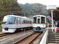 最初の目標、吾野駅に到着。飯能は晴れてたのに、奥武蔵に入って急に曇り。飯能からここまで25分くらい。