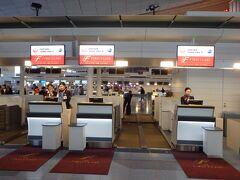 今回、まずはJALで香港まで ということで、羽田空港国際線ターミナルにてチェックイン