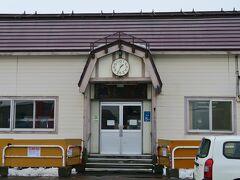 銭函駅に到着。北海道らしい風情のある駅舎。