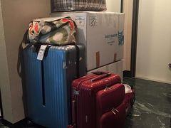 約100?近い支援物資を持って羽田国際線に向かいます ANA深夜便ビジネスクラスでバンコクへ