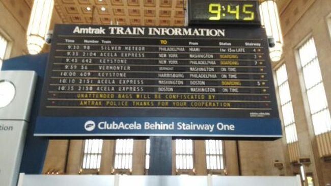 ニューヨーク三日目 ペン・ステーション~アセラ特急に乗り、フィラ ...