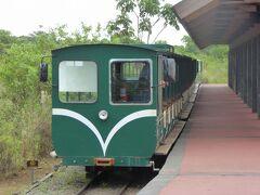 トロッコ列車に乗車。 景色を楽しむというよりは移動手段。