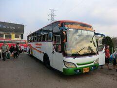7:58(ラオス時間) タイ側イミグレーションからバスで10分。 ラオス領に入りました。  ①タイラオス国境バス‥20バーツ(70円) ノーンカイ.7:52→〔タイ/ラオス国境〕→タナレーン.7:58