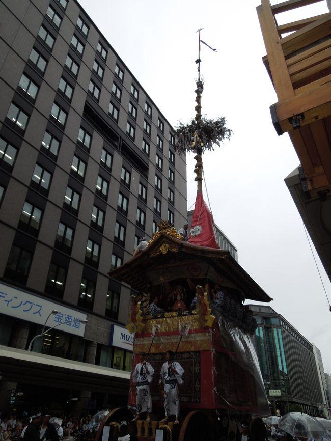 2015年台風通過後の祇園祭