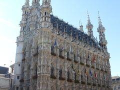 こちらが市庁舎 。15世紀ゴシック様式で「石のレース」と呼ばれているそう。納得!