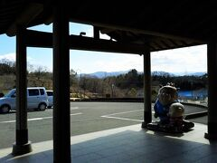 猪の倉温泉・しらさぎ苑の玄関からの風景。