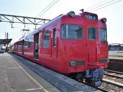 吉良吉田から本日のメインイベント、蒲郡線に乗車します。  車はローレル賞にも輝いた6000系の2両編成。