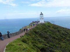 レインガ岬灯台(Cape Reinga Lighthouse)です。1941年に建てられた趣のある印象的な灯台です。