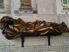 セルクラースの像 触ると幸せになるブロンズ像 もちろん触りました。