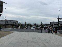 神門通りも少し見えました〜門前町として栄えた参道。