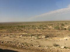 キジルクム砂漠 ブハラからシャフリサブスに向かって30分ほど行ったところです。 ウズベキスタン全土がキジルクム砂漠と言ってもいいのでしょう。 このいうな荒地と草原地帯が多いです。