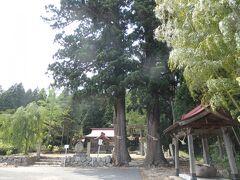 というわけで、最初に訪れたのは長井市郊外の白兎地区にある葉山神社。