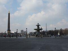 以前来た時にここらへんでエッフェル塔の点滅を見学しました。