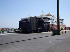 スペインを出国して船に乗船