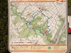 外観地図。駅からエルツ城Burg Eltzまで1.5kmくらい。