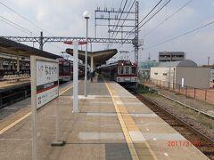 伊勢中川駅に着く。