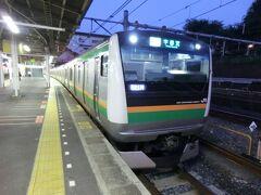 5:00 上野で東北本線宇都宮行に乗り換えます。 この列車は東北本線の始発列車です。 夜が明けるのが遅くなりましたね。  ②普通521M.宇都宮行 上野.5:10→宇都宮.6:51