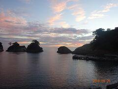 堂ヶ島の夕焼け。