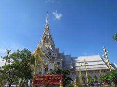 次はワットソートン!  タイの旅行を決めた時に、グーグルマップで目的地を探していたら、ここが良かったので!