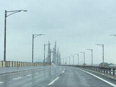 雨の瀬戸中央自動車道