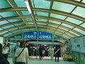 釜山から安東はバスで行くことにしました。釜山のバスターミナルは「ノポドン」という地下鉄駅に直結しています。  時間を調べたら朝7時が始発でした。が、早起きできなくて、結局、朝、2番のバスに乗りました。8時30分発で、安東パスターミナルまでちょうど2時間30分かかりました。