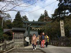 お次は、パワースポットの榛名神社にご参拝
