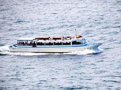観光遊覧船、波が穏やかなら東尋坊からも乗船可能ですがこの日は生憎波が高かったので乗船は中止でした。