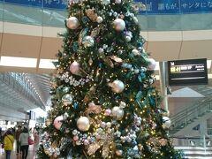 実家の母との京都旅行  待ち合わせは羽田空港第2ターミナル。11月下旬でしたがもうクリスマスツリーが飾られていたので、思わずパチリ! 良い旅になりますように~♪