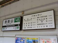 近鉄壺阪山駅 12:10頃  近鉄大阪阿部野橋駅でSさんと待ち合わせ。 11:20発の急行吉野行きに乗車、約50分で壺阪山駅に到着。