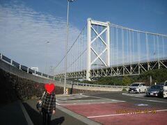 博多から2時間でめかりパーキングエリア到着です。ここでトイレ休憩です。 久しぶりに関門橋を渡ります。