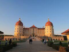 ドレスデンの北に位置するモーリッツブルク城。夕日があたってとってもきれいでした。