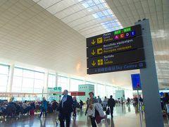 朝、グラナダを発ち 空路1時間ちょっとで バルセロナに到着です。 バルセロナ  エル  ブラット空港