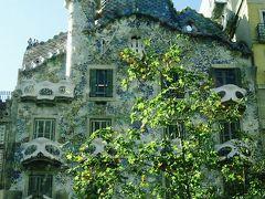 カサ バトリョ 個人の邸宅を改装し、1906年に完成。 屋根や外壁に紫、ブルー、緑、オレンジで色鮮やかな色が使われており、 正面の壁面には色とりどりのタイルがモザイク状にはりつけてあります。 まるで建物全体に美しい小花を咲かせたように見える 可愛らしい建物です。