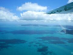 サンゴ礁かと思っていたら、 こちらは雲の影でした。  本日は雲が多し。